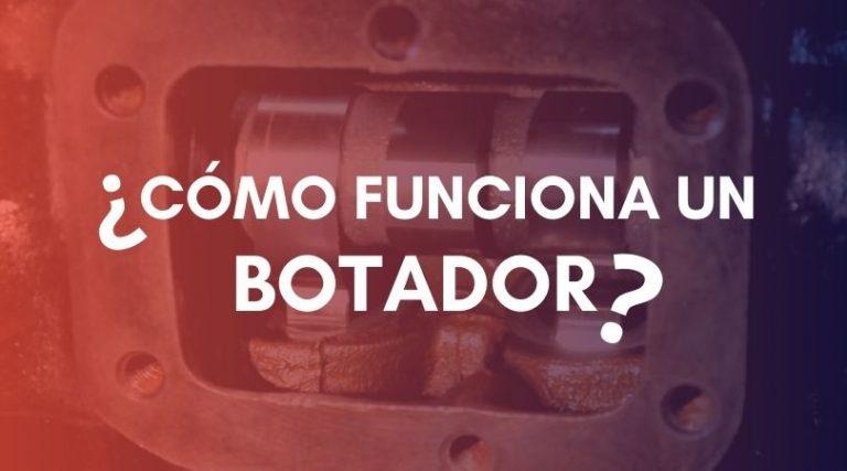 ¿Cómo funciona el botador de motor?
